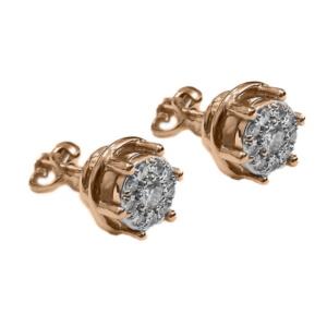 Золотые серьги с бриллиантами - Ю21461