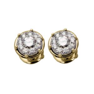 Золотые серьги с бриллиантами - Ю22225