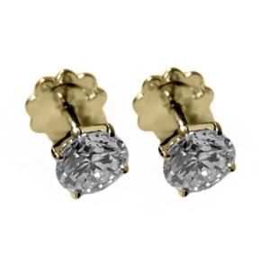Золотые серьги с бриллиантами - Ю33101