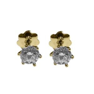 Золотые серьги с бриллиантами - Ю33770