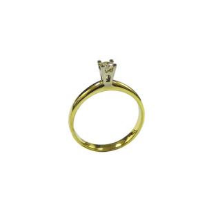 Золотое кольцо с бриллиантом - Ю33591